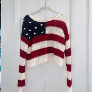 Forever 21 USA Flag Sweater